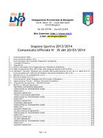 Comunicato Ufficiale N° 35 del 20/03/2014