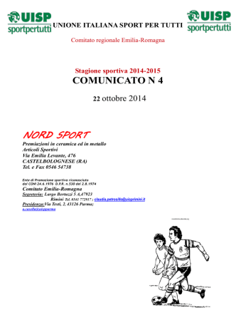 Comunicato 4 del 22 ottobre