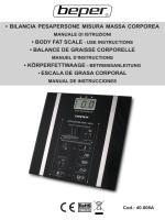 bilancia pesapersone misura massa corporea • body fat