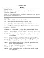 Curriculum Vitae - Università degli Studi di Milano