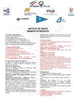 NOTICE OF RACE BANDO DI REGATA