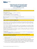 Foglio Informativo Conto Agenzia di Assicurazione