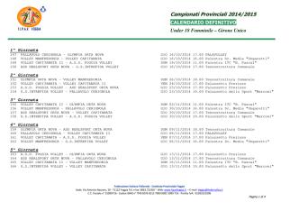 Calendario Definitivo 2014-2015