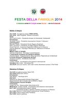 """programma Festa Famiglia - Gruppo di Volontariato """"Solidarietà"""""""