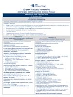 schema percorso formativo gestione e controllo del