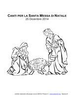 Canti natale 2014 - Libretto coro