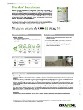 Biocalce® zoccolatura - Centro Edile S.r.l.