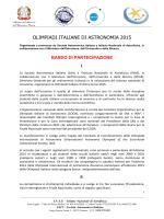 Bando Olimpiadi di Astronomia 2015