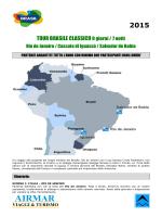 Tour Brasile Classico partenze con voli da Cagliari, Olbia, Bologna