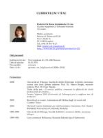 curriculum vitae - Università della Svizzera italiana