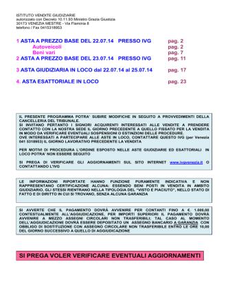 Bollettino Luglio 2014 - Istituto Vendite Giudiziarie di Venezia