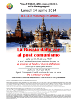 La Russia dallo zar al post comunismo