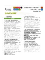 News Novembre 2014 - Ferrara Terra e Acqua