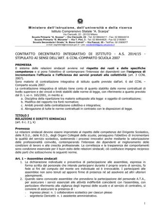 Contr. Int. 14.15 - Istituto Comprensivo