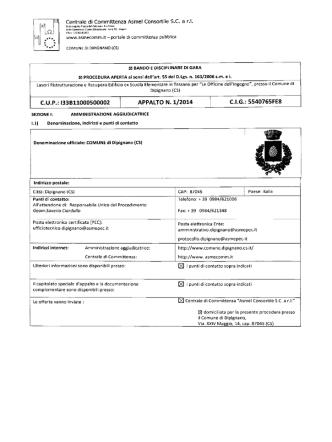 bando pdf - Albo Fornitori