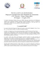 Stage per la preparazione alle Olimpiadi di Astronomia I.I.S. Telesi