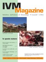 IVM Magazine 2014-01 - Istitito Valtellinese di Mineralogia