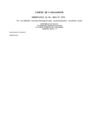Corte di Cassazione - sentenza 27-1