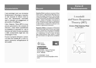brochure (pdf) - Dipartimento di Neuroscienze, Psicologia, Area del