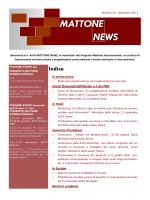 newsletter - Progetto Mattone Internazionale