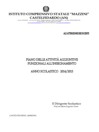 Calendario-riunioni - Istituto Comprensivo Mazzini Castelfidardo