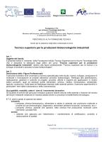Bando biennio 2014/2016 - Fondazione Istituto Tecnico Superiore