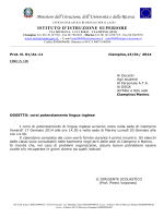 Circolare int. n. 118 - 13.01.2014 - iisviaromana.gov.it
