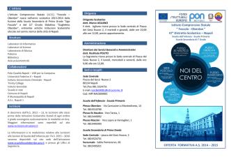 Brochure famiglie IC Foscolo Oberdan