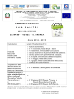 Calendario scolastico I. C.S. C A L I T R I con sez. annesse