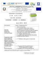 Calendario scolastico I. C.S. C A L I T R I con sez. annesse