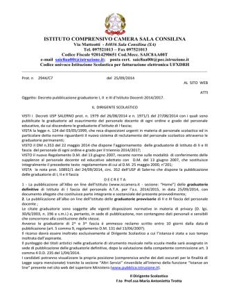 Decreto - Istituto Comprensivo Camera