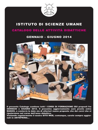 catalogo corsi - Istituto di scienze umane