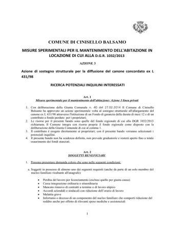 (ALLEGATO 2) - Comune di Cinisello Balsamo