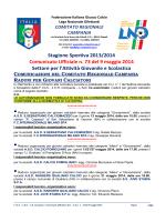 C.U. n. 73 L.N.D.-S.G.S. del 9.05.2014