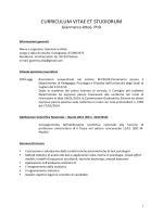 CURRICULUM VITAE ET STUDIORUM - I blog di Unica