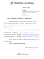 Verona, 21/05/2014 Spettabile ORDINE DEI DOTTORI