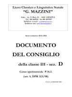 documento del consiglio - Liceo Classico e Linguistico Statale