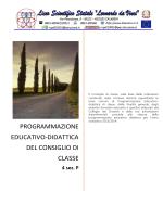 programmazione educativo-didattica del consiglio di classe