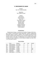 Dipartimento di Lingue - Pontificia Università della Santa Croce