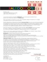 Kaleidoscope mercoledì 9 aprile 2014 ore 18.30 nella