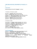 LIBRI OBBLIGATORI DEL DIPARTIMENTO DI ITALIANO 14