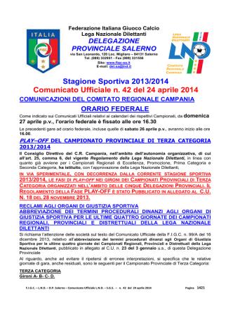 c.u. 42 - FIGC