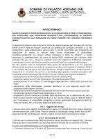 Avviso pubblico - Comune di Palazzo Adriano