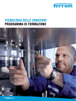 TeCnoloGiA delle ConServe ProGrAmmA di FormAzione
