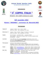 """"""" 5 COPPA ITALIA """" - Unione Karate Sportivo"""