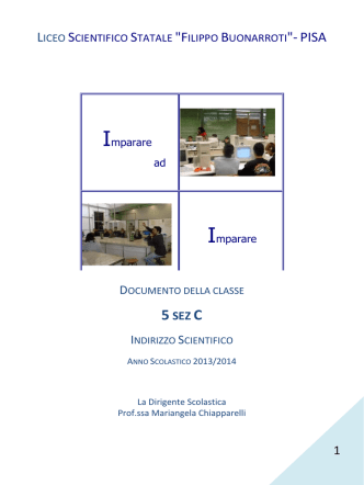Classe 5C SCIENTIFICO SPERIMENTALE