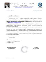 CNI - Autocertificazione dei crediti formativi circ 292 - 449