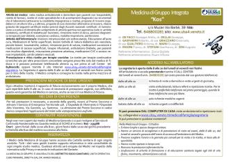 carta servizi medici KOS 14 - Azienda Ulss 4 Alto Vicentino