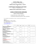 scheda di prenotazione unica 2 eventi aggiornata al 14/07/2014