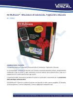 Kit Multicare® - Misuratore di Cole Misuratore di Colesterolo